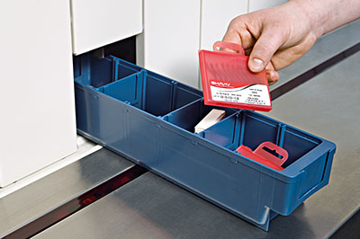 Employees only have access to those compartments containing the tools specified on their list